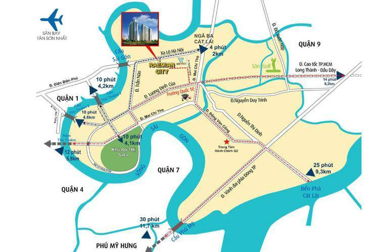 can ho laimian city giao thong xung quanh